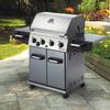 Huntington Rebel Cast Aluminum 4-Burner (40,000-BTU) Natural Gas Grill with Side Burners