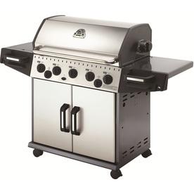 Huntington Rebel 5-Burner (50000 BTU) Natural Gas Grill with Side and Rotisserie Burner