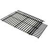 GrillPro Adjustable Rectangle Porcelain-Coated Steel Cooking Grate