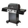 Huntington Classic Black Porcelain Coated 3-Burner (40,000-BTU) Liquid Propane Gas Grill with Side Burner