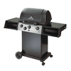 Huntington Classic Black Porcelain Coated 3-Burner (40,000-BTU) Natural Gas Grill with Side Burner