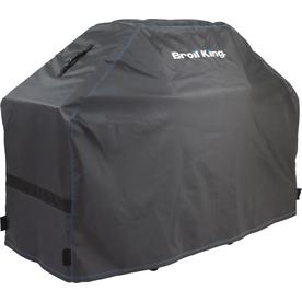 Broil King Black with Blue Accent Stitching PVC 51-in Cover