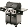 Huntington Patriot Black Porcelain Coated 4-Burner (50000 Btu) Liquid Propane Gas Grill 1 Na