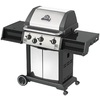 Huntington Huntington Black Porcelain Coated 3-Burner (40,000-BTU) Liquid Propane Gas Grill with Side Burner