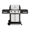 Broil King Signet Black/Stainless Steel 3-Burner (40,000-BTU) Liquid Propane Gas Grill