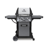 Broil King Monarch Black and Stainless Steel and Black Chrome 3-Burner (30,000-BTU) Natural Gas Grill with Side Burner