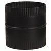 IMPERIAL 5-in x 5-in Black Matte Chimney Pipe