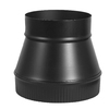 IMPERIAL 8-in x 7-1/4-in Black Matte Chimney Pipe