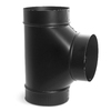 IMPERIAL 8-in x 14-3/4-in Black Matte Chimney Pipe