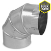 IMPERIAL 4-in x 10-in Galvanized Duct
