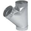IMPERIAL 4-in x 12-in Galvanized Duct