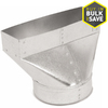 IMPERIAL 6-in x 4-in Galvanized Steel Straight Register Duct Boot