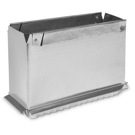 IMPERIAL 3.25-in x 10-in Galvanized Steel Rectangular Stack Duct Starting Collar
