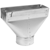 IMPERIAL 4-in x 3.25-in Galvanized Steel Straight Stack Duct Boot