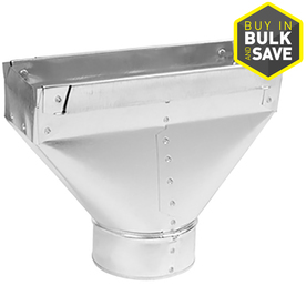 IMPERIAL 6-in x 3.25-in Galvanized Steel Straight Stack Duct Boot