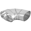 IMPERIAL 6-in x 6-in Galvanized Steel Oval Duct Elbow