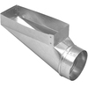 IMPERIAL 6-in x 4-in Galvanized Steel End Register Duct Boot