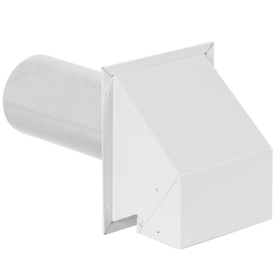 IMPERIAL 4-in Dia Galvanized Steel R2 Exhaust Dryer Vent Hood