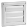 IMPERIAL 4-in Plastic Louvered Dryer Vent Cap
