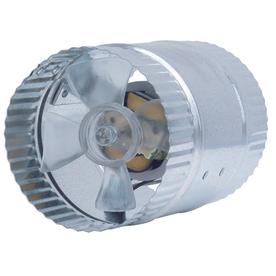 SUNCOURT Inductor In-Line Duct Fan 4-in Dia Galvanized Steel Axial Duct Fan