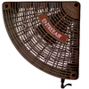 SUNCOURT Entree Air 5.25-in Brown Plastic Door Frame Fan