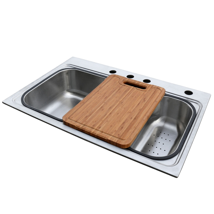 Shop american standard single basin drop in stainless steel kitchen sink at - American standard kitchen sink ...