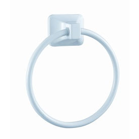 Project Source Seton White Wall-Mount Towel Ring
