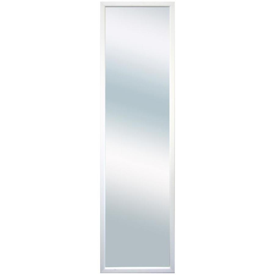 Shop 13 5 in x 49 in white rectangle framed wall mirror at for White framed mirror