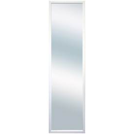 13.5-in x 49-in White Rectangular Framed Mirror