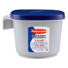 shop rubbermaid 1 quart plastic bucket at