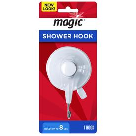 Magic White Single Shower Hook