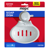 Magic Magic White Plastic Soap Dish