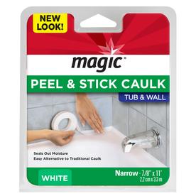 Magic White Tub and Wall Bathtub Sealer Trim