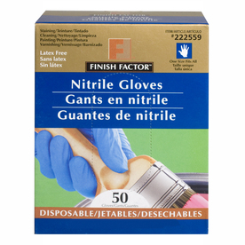 Blue Hawk 50-Count Disposable Nitrile Gloves - Fits All