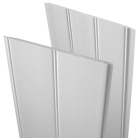 Shop evertrue 7 5 in x 8 ft double bead white pvc wall panel at lowes