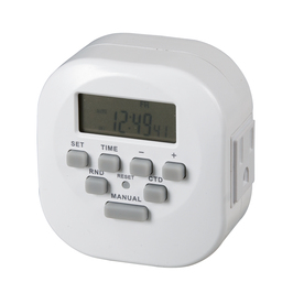 Utilitech Digital Timer with 2 Grounded Outlets and Countdown Feature 15-Amp 2-Outlet Digital Residential Plug-in Countdown Lighting Timer
