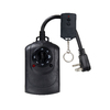 Utilitech 15-Amp Outdoor 2-Outlet Photocell Timer with Wireless Remote
