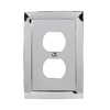 allen + roth 1-Gang Polished Chrome Standard Duplex Receptacle Metal Wall Plate