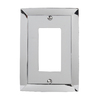 allen + roth 1-Gang Polished Chrome Decorator Rocker Metal Wall Plate