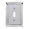 allen + roth 1-Gang Polished Chrome Standard Toggle Metal Wall Plate