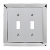 allen + roth 2-Gang Polished Chrome Standard Toggle Metal Wall Plate