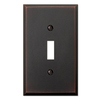 allen + roth 1-Gang Aged Bronze Standard Toggle Metal Wall Plate