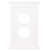 allen + roth Capitol 1-Gang White Standard Duplex Receptacle Composite Wood Wall Plate