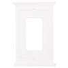 allen + roth Capitol 1-Gang White Decorator Rocker Composite Wood Wall Plate