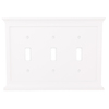 allen + roth Capitol 3-Gang White Standard Toggle Composite Wood Wall Plate