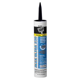 DAP 10.1 oz Black Latex Window and Door Caulk