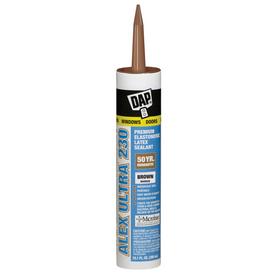 DAP 10.1-oz Brown Paintable Latex Window and Door Caulk