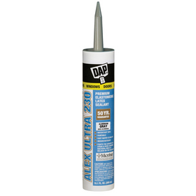 DAP 10.1-oz Aluminum Gray Paintable Latex Window and Door Caulk