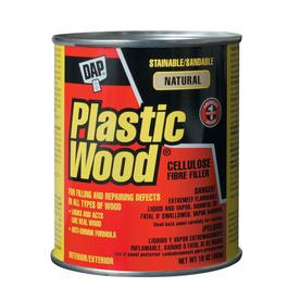 Shop dap plastic wood natural solvent wood filler at for Exterior wood filler paintable