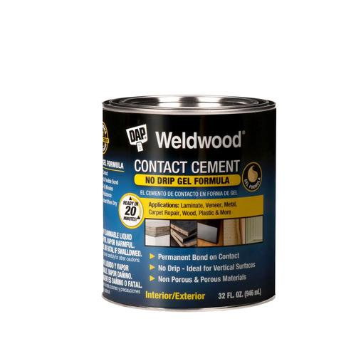 Zoomed: DAP Quart Weldwood® Gel Formula Contact Cement